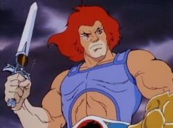 Lion-O wielding the Sword of Omens
