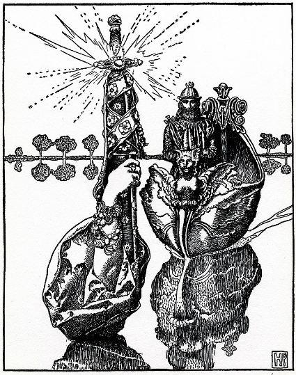 The Excalibur sword