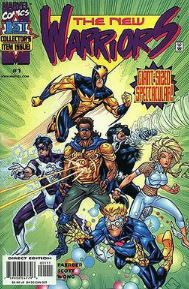 The New Warriors Volume 2, issue #1, art by Steve Scott