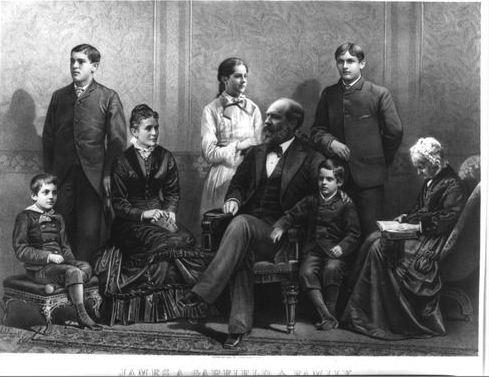 Portrait of James Garfield's family