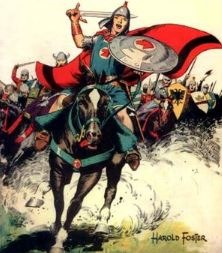 Prince Valiant wielding the Singing Sword