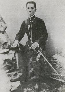 Emilio Aguinaldo in boots Hong Kong 1898
