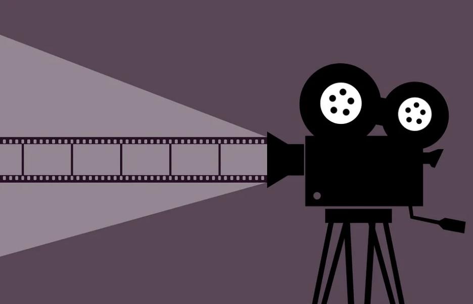 a cinema movie camera