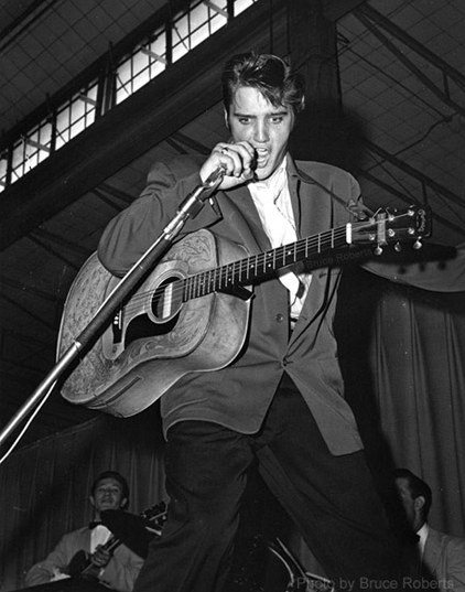 Young Elvis Presley during late 1950s