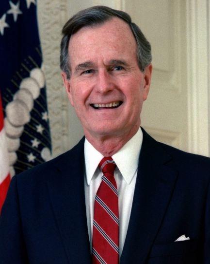 Portrait of the George W.H. Bush