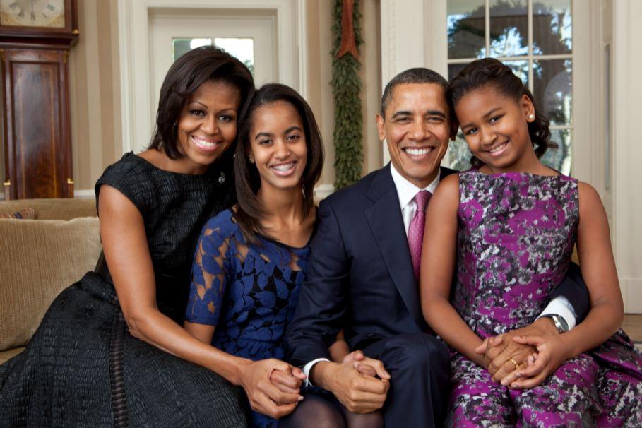 Portrait of Barack Obama's Family